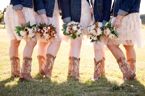 Boots, denim & bouquets