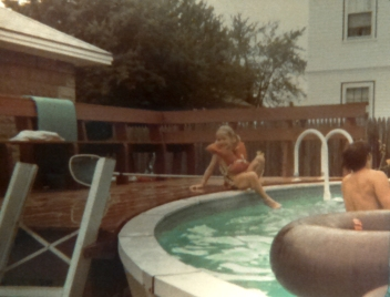 Swimming at my grandparents in MA